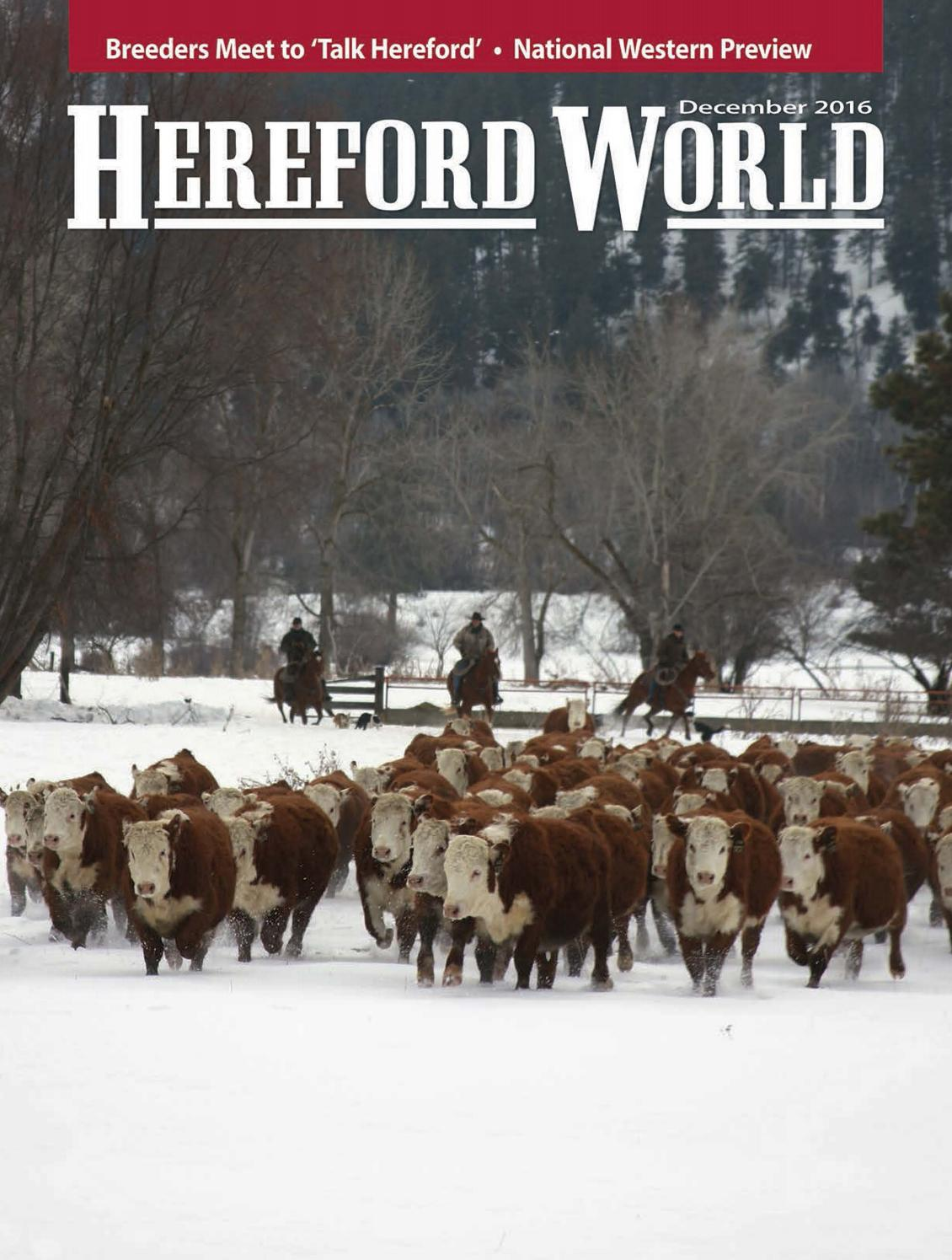 December 2016 Hereford World by American Hereford Association and Hereford  World - issuu aa89cd2d3cb8