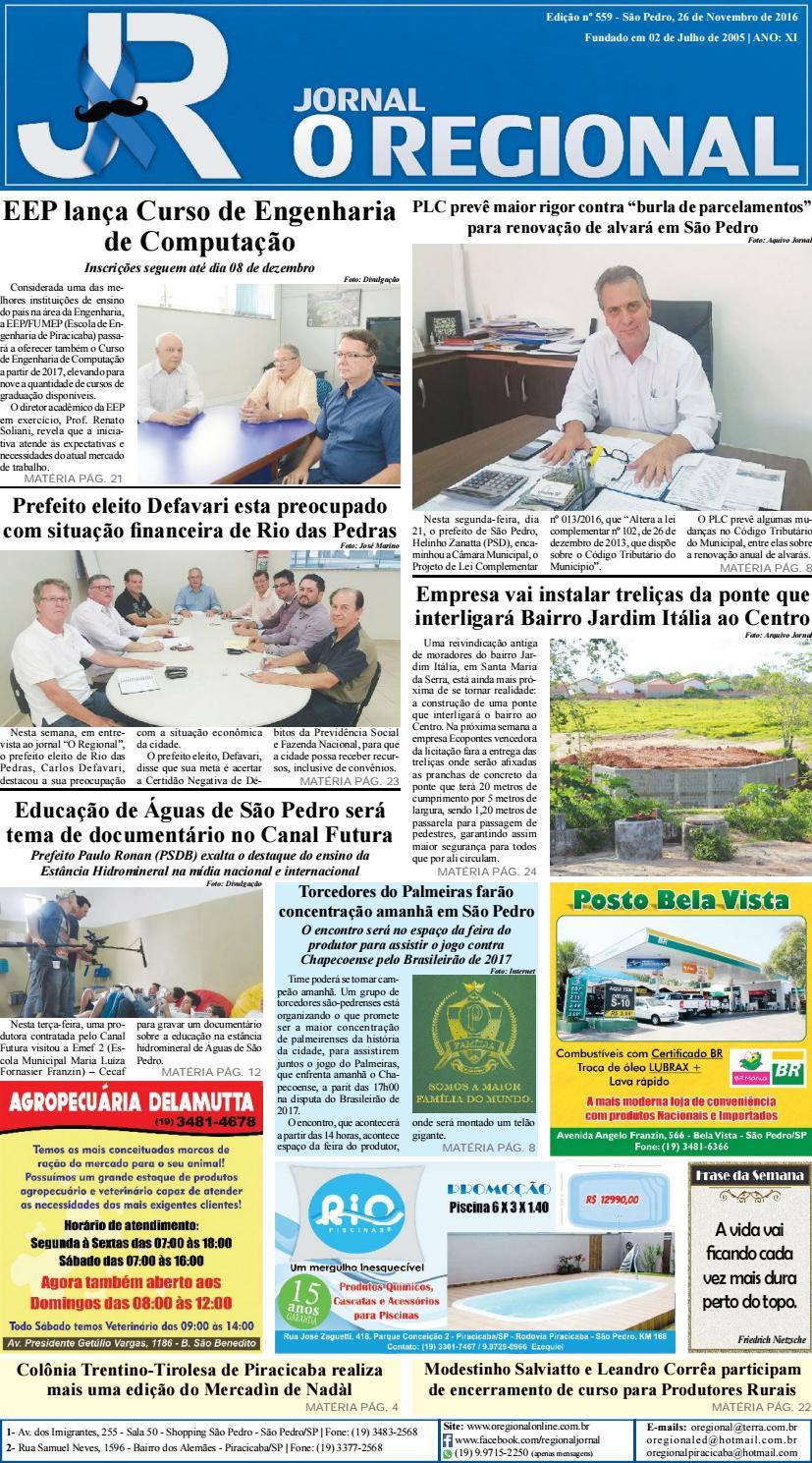 1337fb243 Jornal o regional edição 559 26 11 2016 site (teste) by Jornal O Regional -  issuu