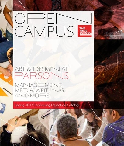 The new school open campus continuing education catalog by the new page 1 fandeluxe Choice Image