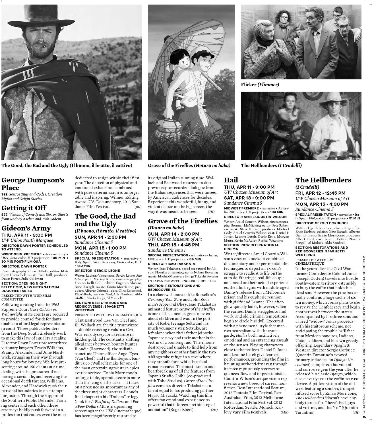 2013 Wisconsin Film Festival Film Guide