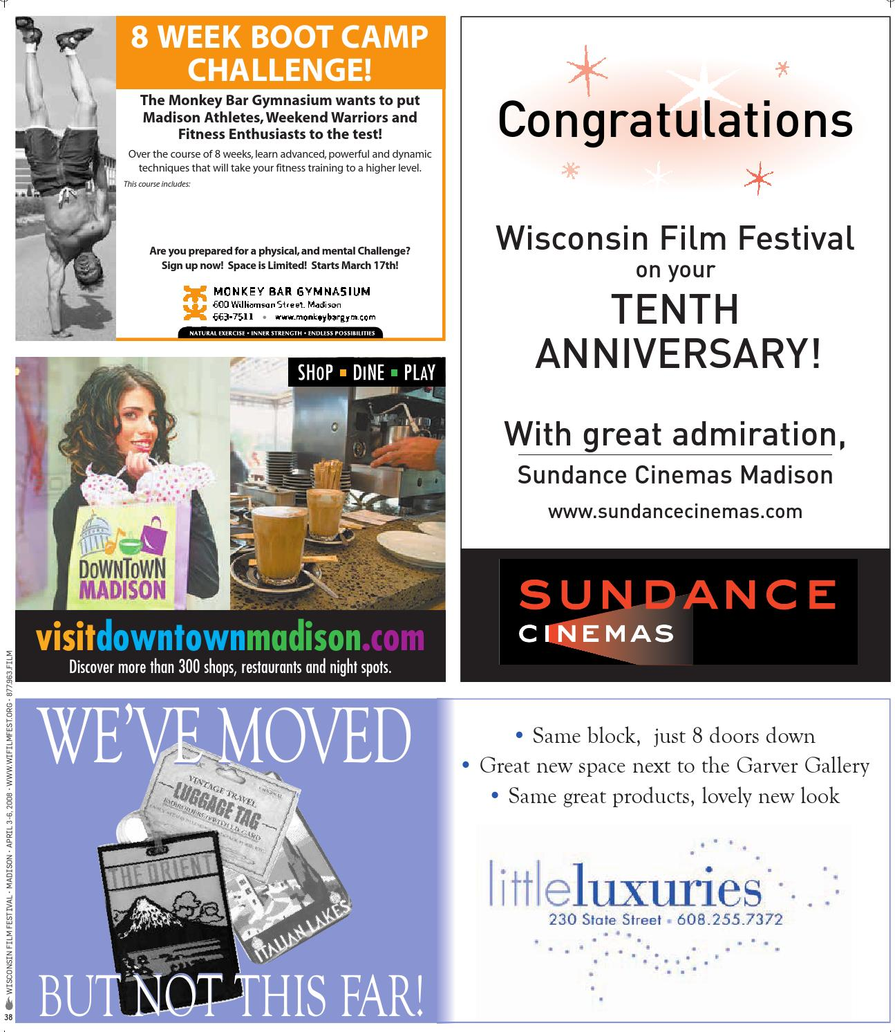 Now That Wisconsin Film Festival Has >> 2008 Wisconsin Film Festival Film Guide By Uw Madison Division Of
