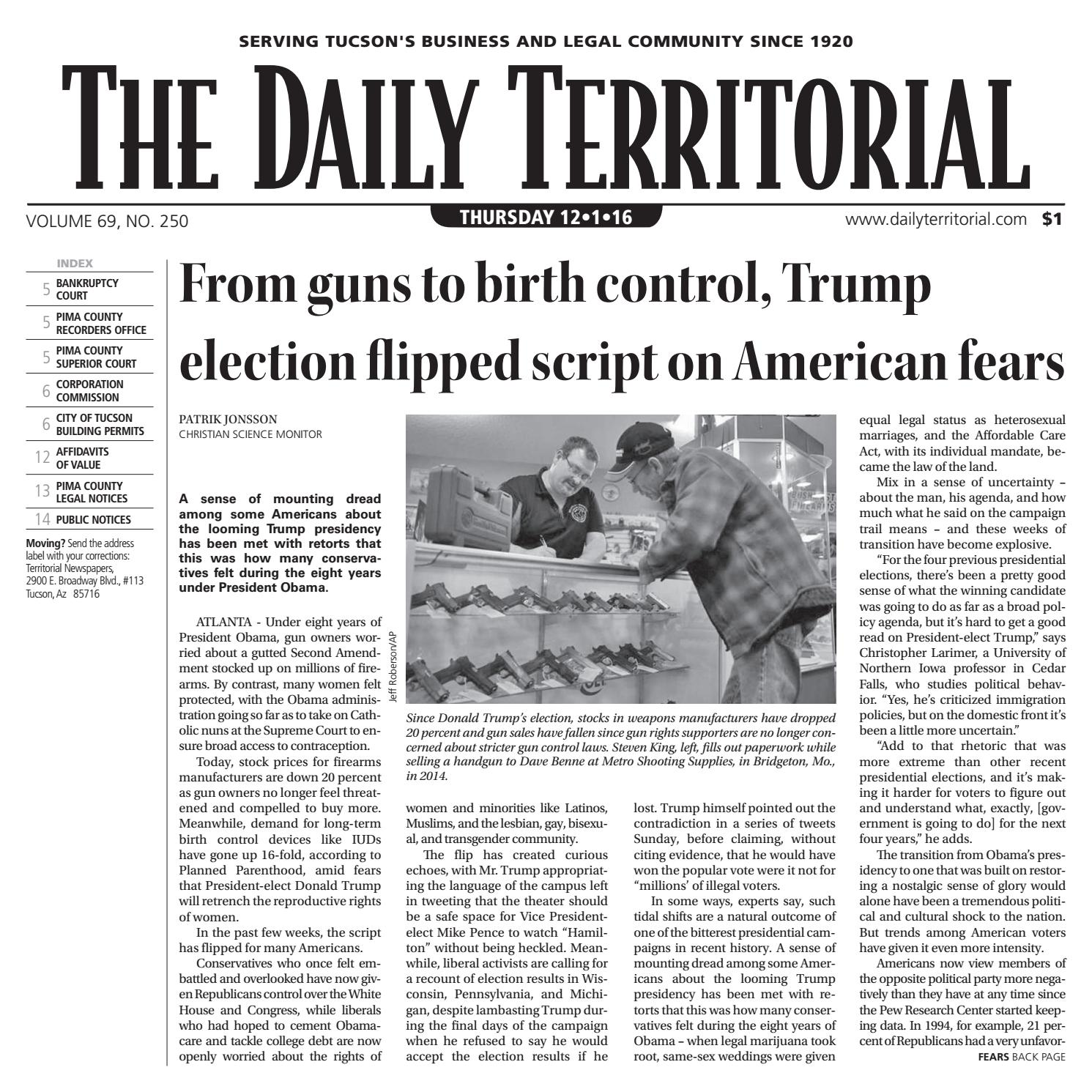 12/1/2016 The Daily Territorial by Wick Communications - issuu