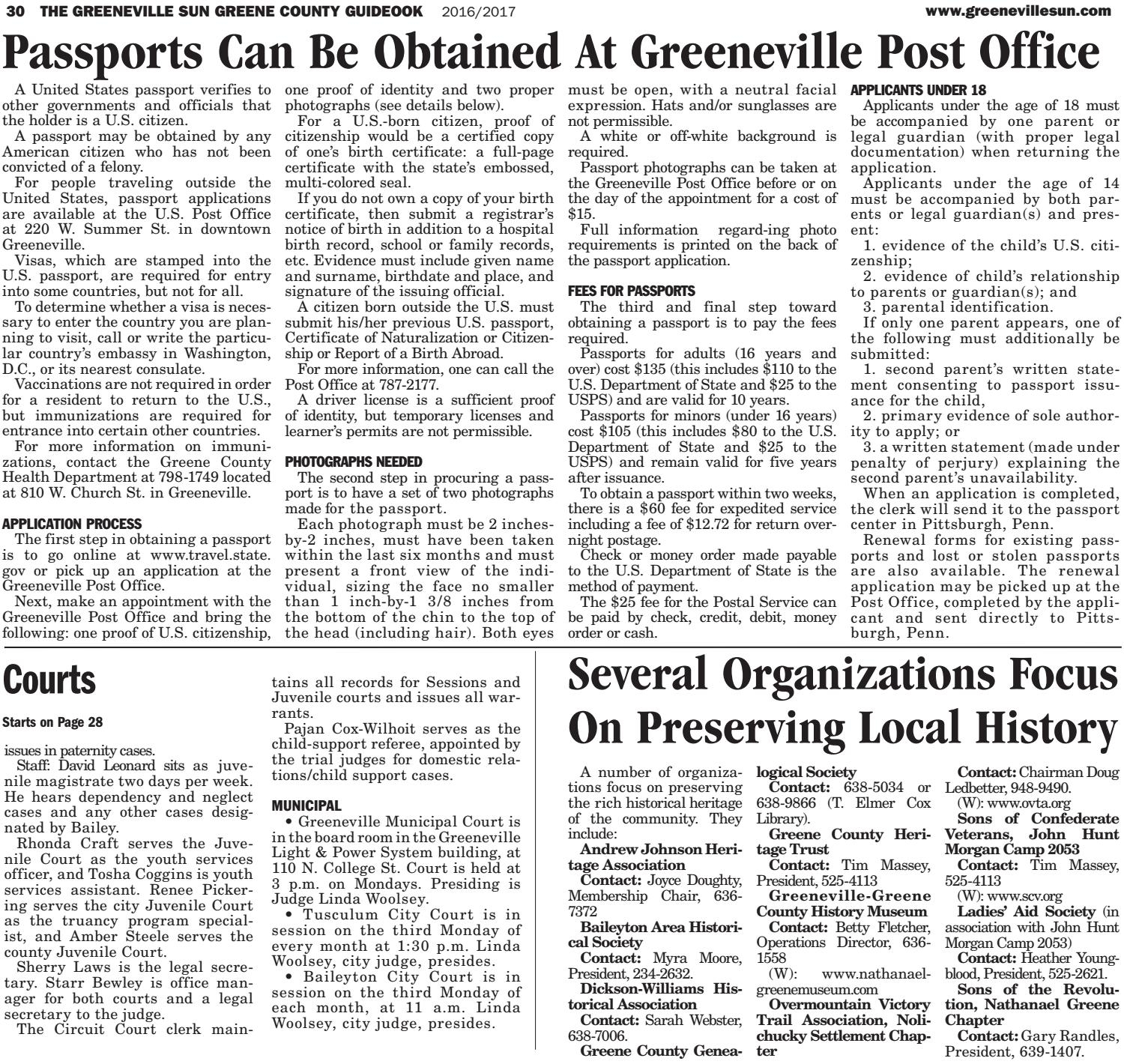 The Greeneville Sun: Guidebook 2016-17 by The Greeneville