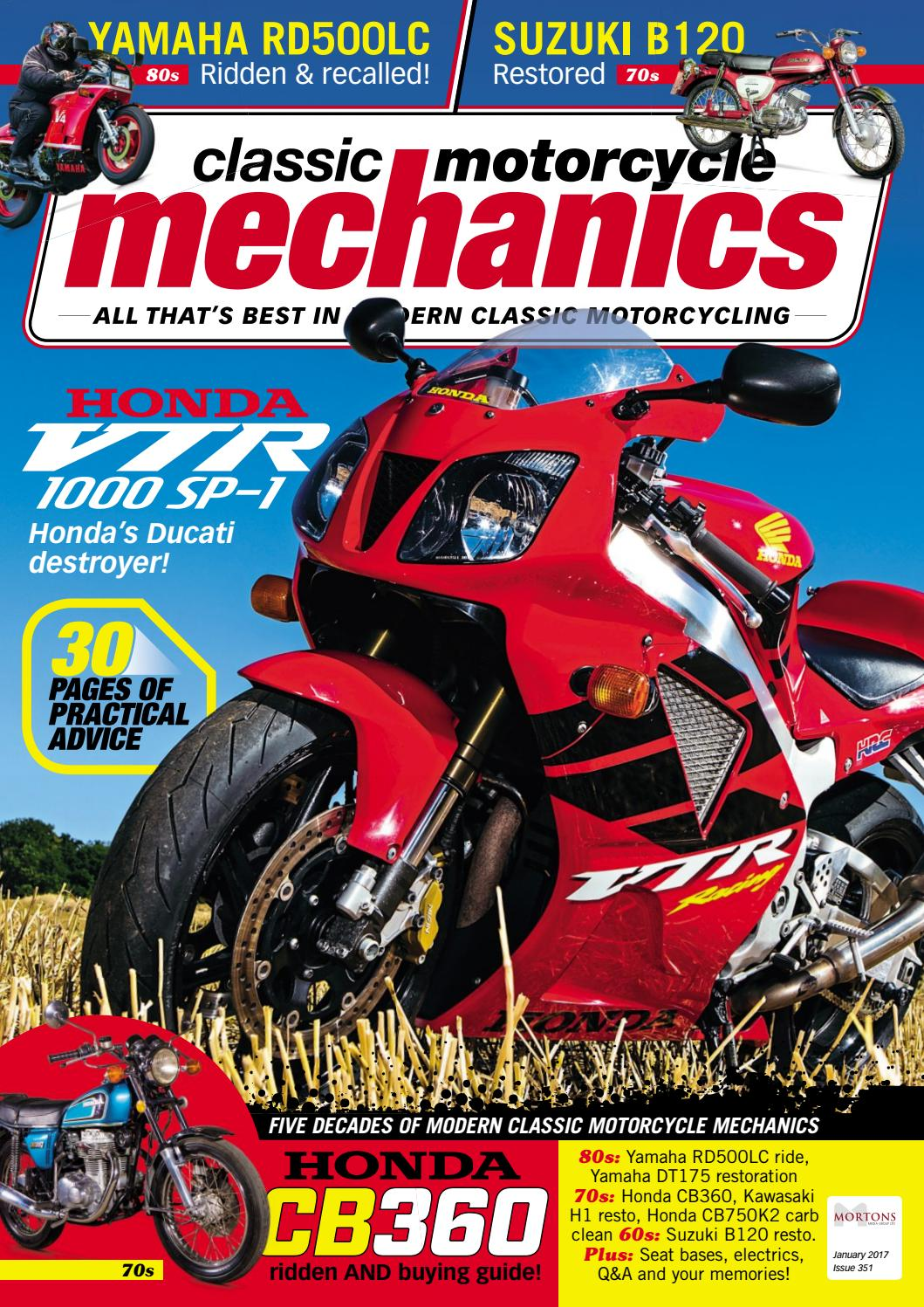Classic Motorcycle Mechanics January 2017 preview by Mortons