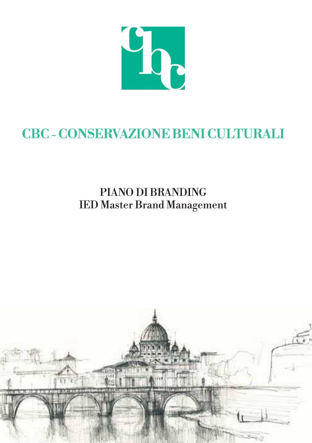 Piano Di Branding Per Cbc Conservazione Beni Culturali By Ied