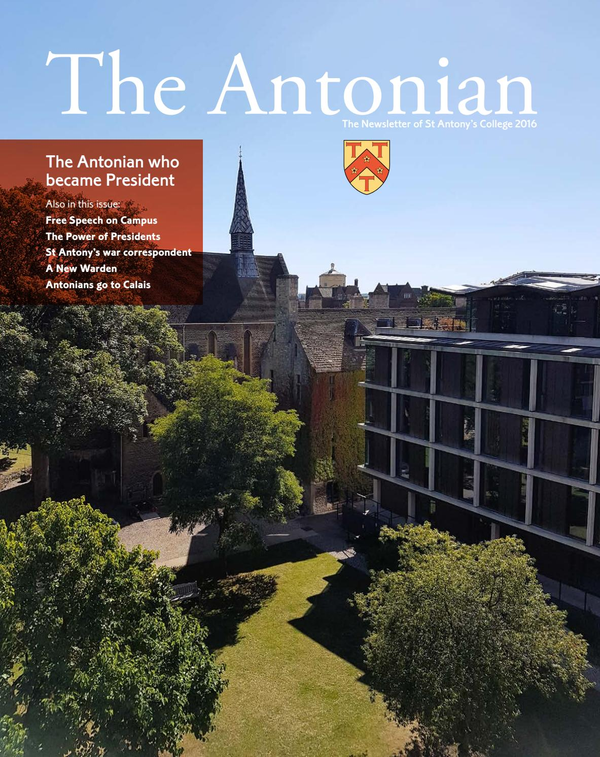 a102e99f2405e The Antonian Newsletter 2016 by St Antony s College - issuu