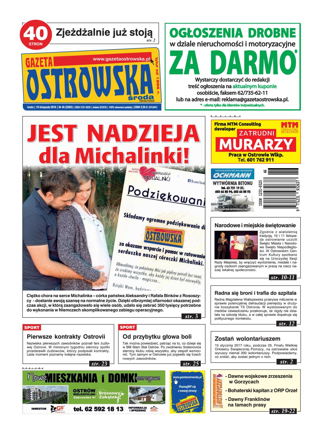 95e86d1e010dba Go 46 2016 by Gazeta Ostrowska - issuu