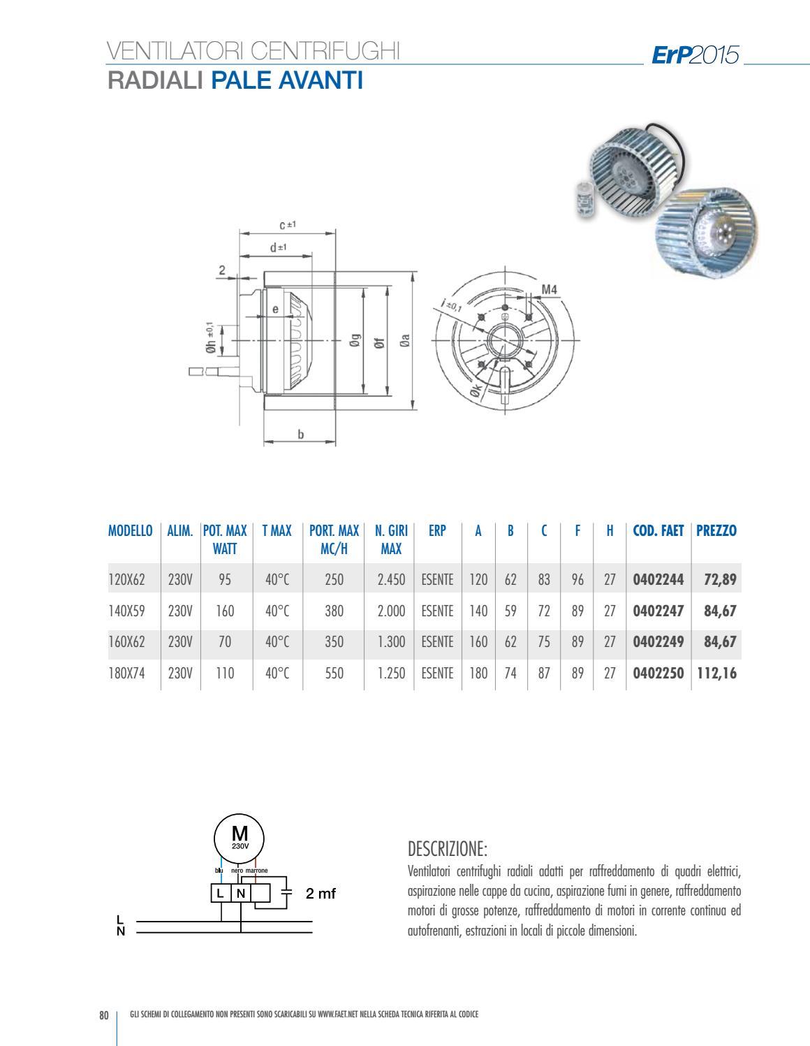 Schema Elettrico Max 250 : Faet 2015 catalogo ventilatori centrifughi by simone banfi issuu
