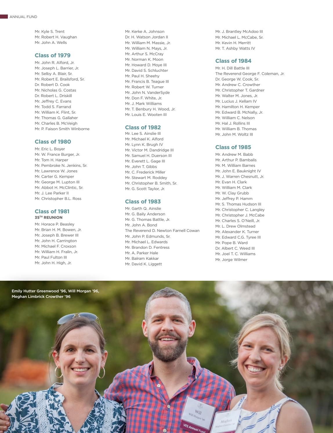 Virginia Episcopal School - 2015-16 Annual Report on Giving