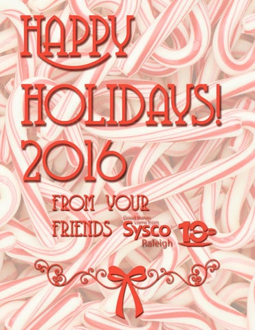 2016 Holiday Flyer By Sysco Raleigh Issuu