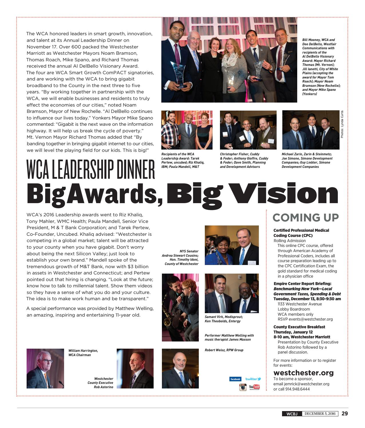 Westchester County Business Journal 120516 By Wag Magazine Issuu
