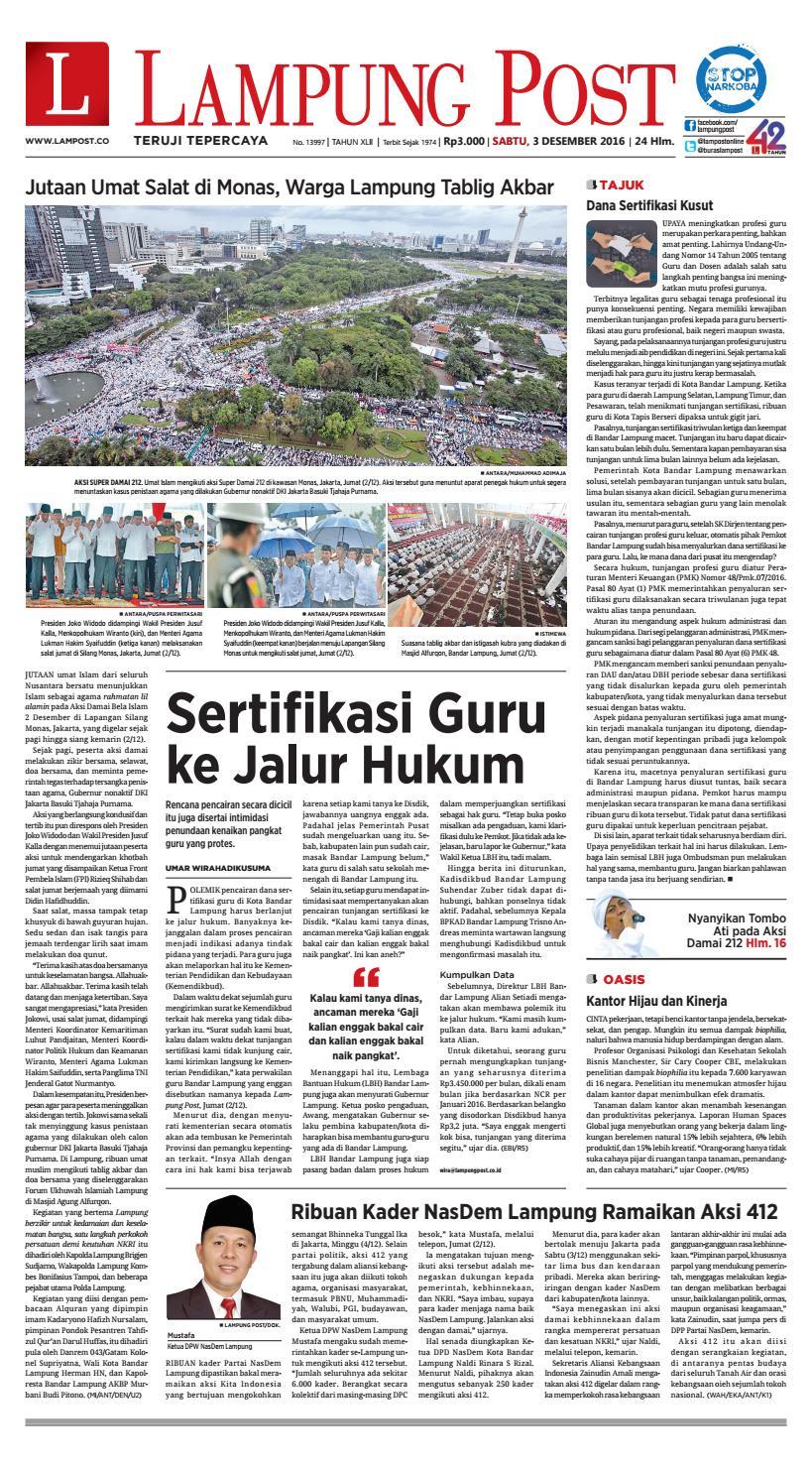 Lampung Post Sabtu 3 Desember 2016 By Issuu Produk Ukm Bumn Sulam Usus Pmk