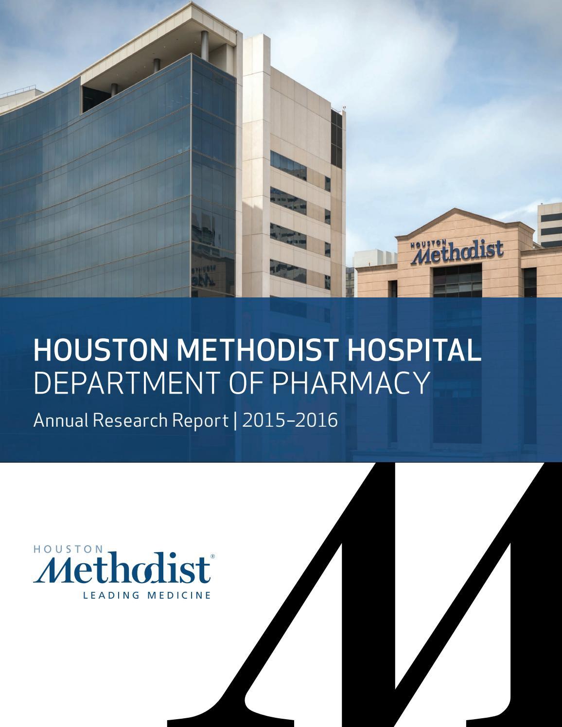 Houston Methodist Hospital Department of Pharmacy Annual