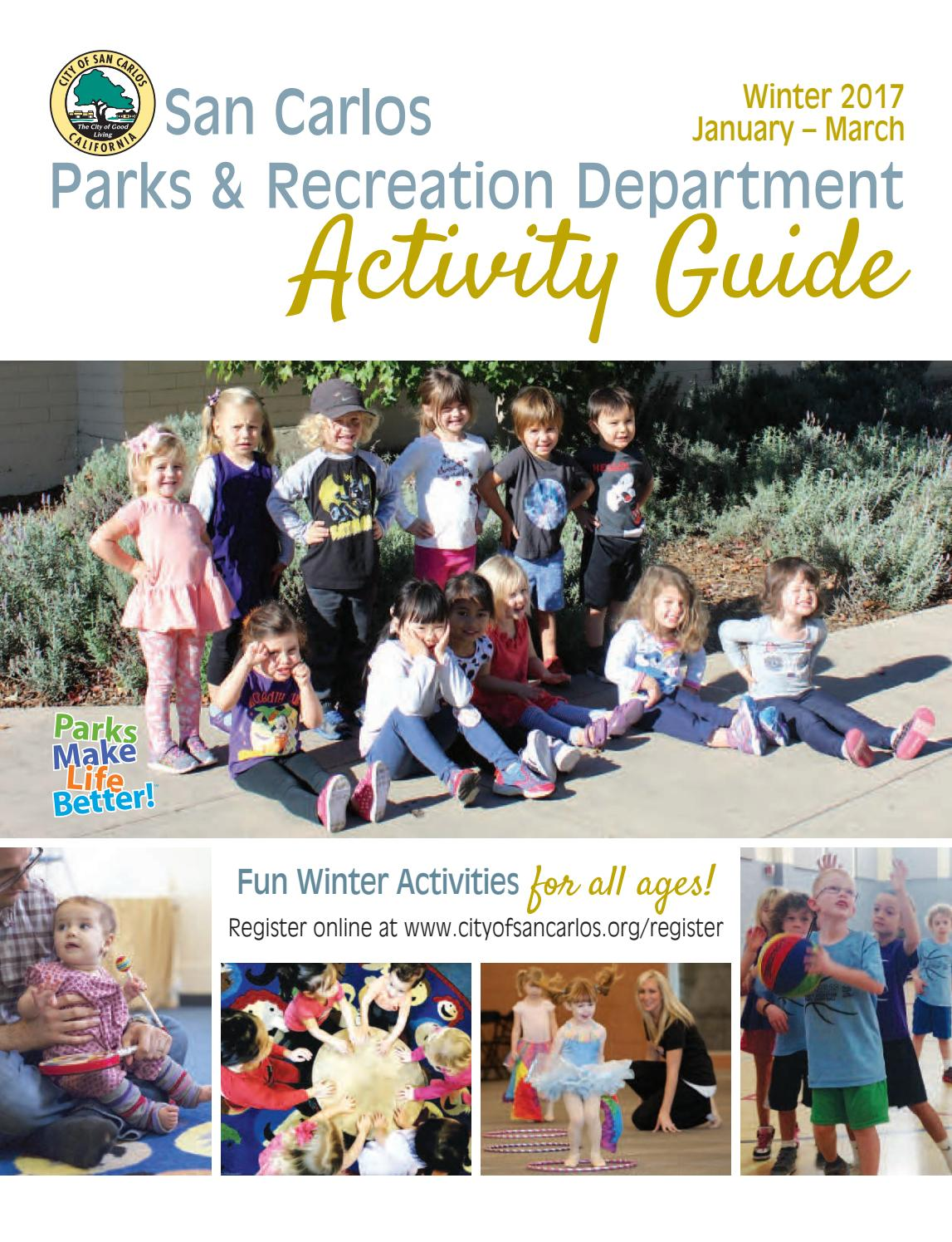 San Carlos Winter Activity Guide By Parks And Recreation