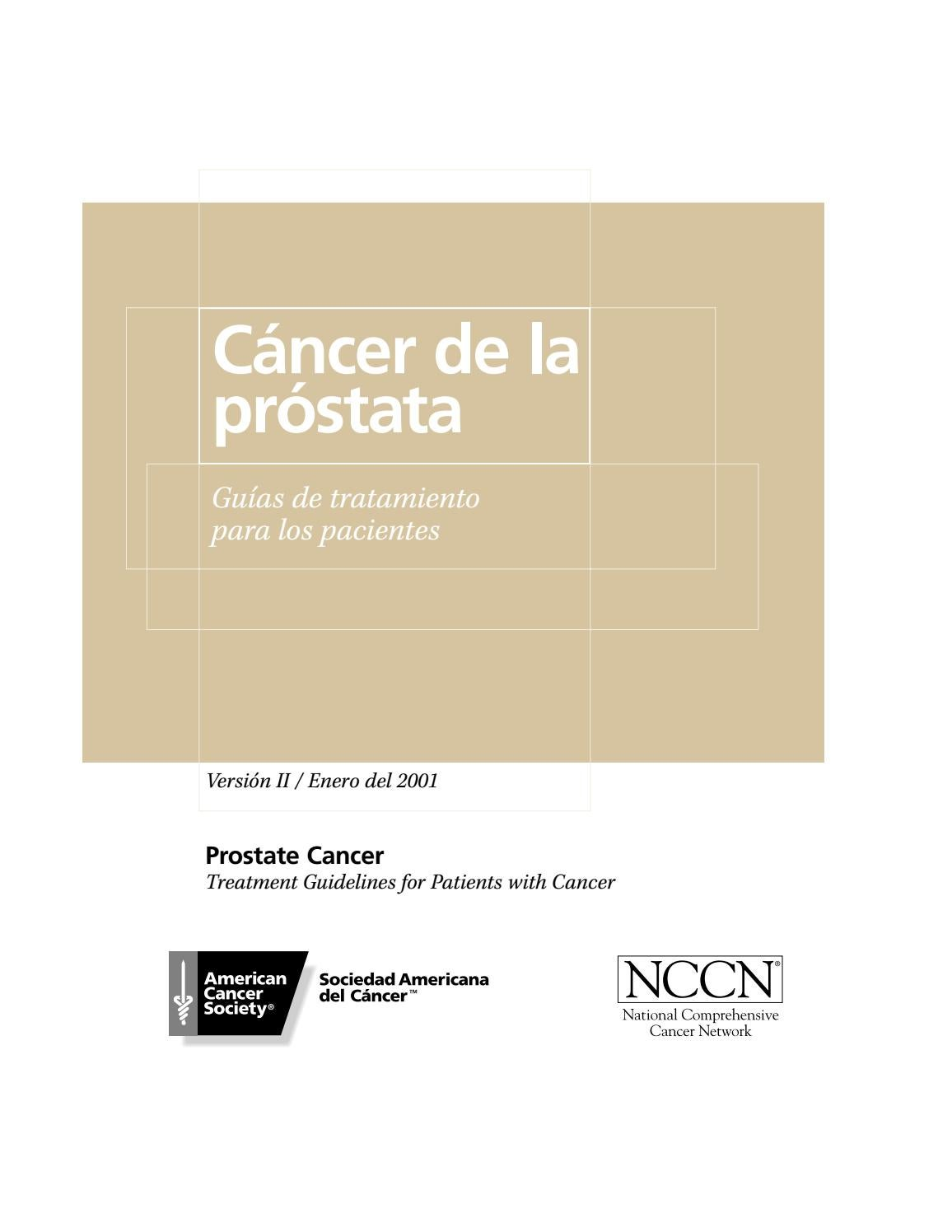cancer de prostata sociedad americana