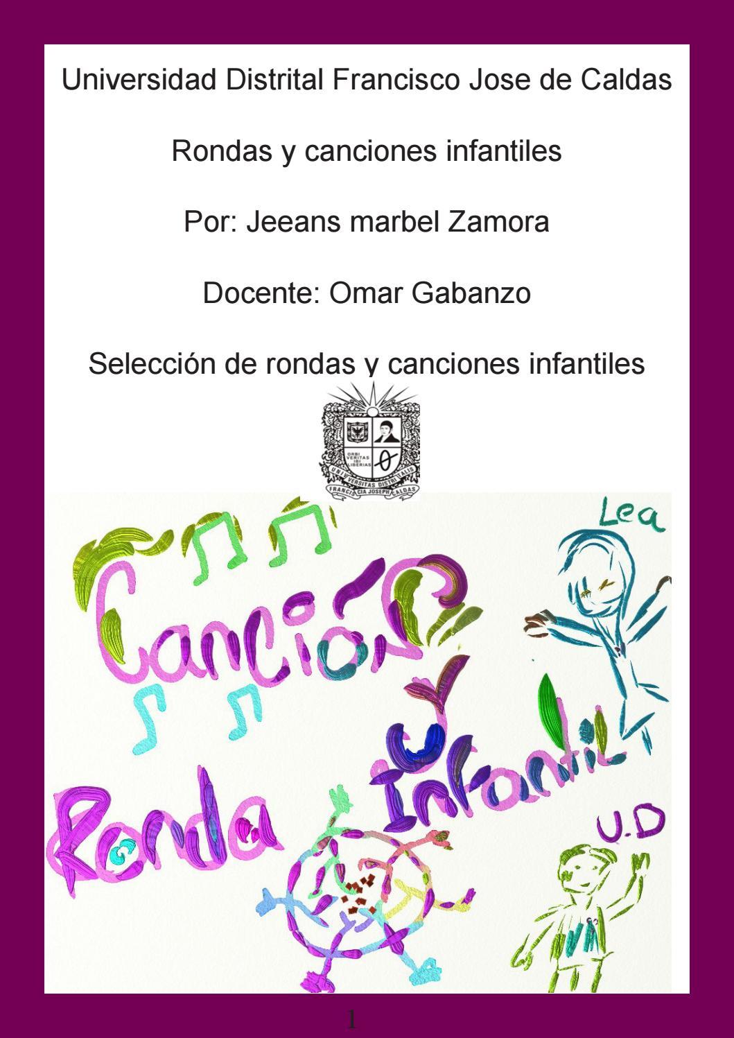 Rondas Y Cancion Infantil By Jeeans Zamora Issuu