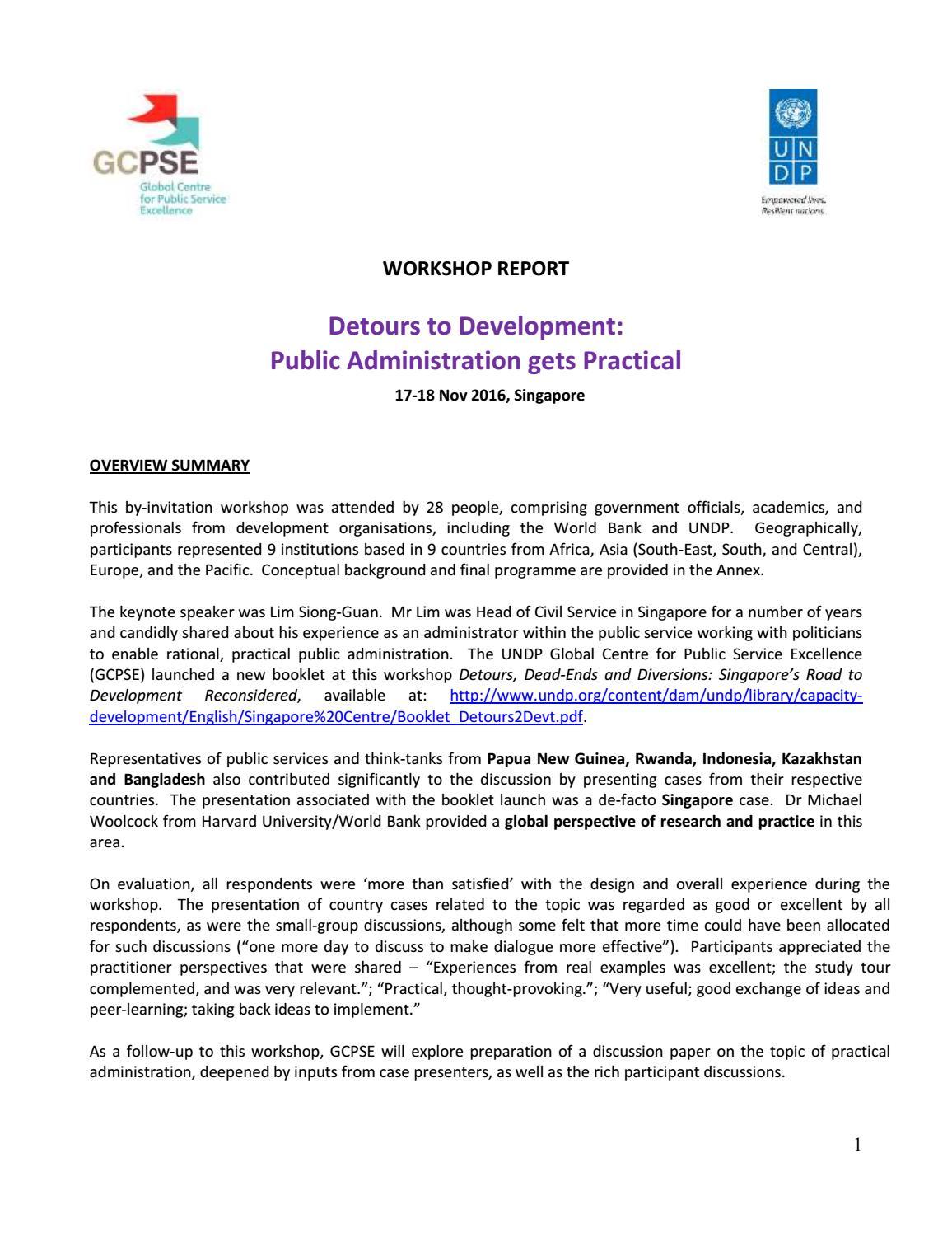 Workshop Report] Detours in Development: Public