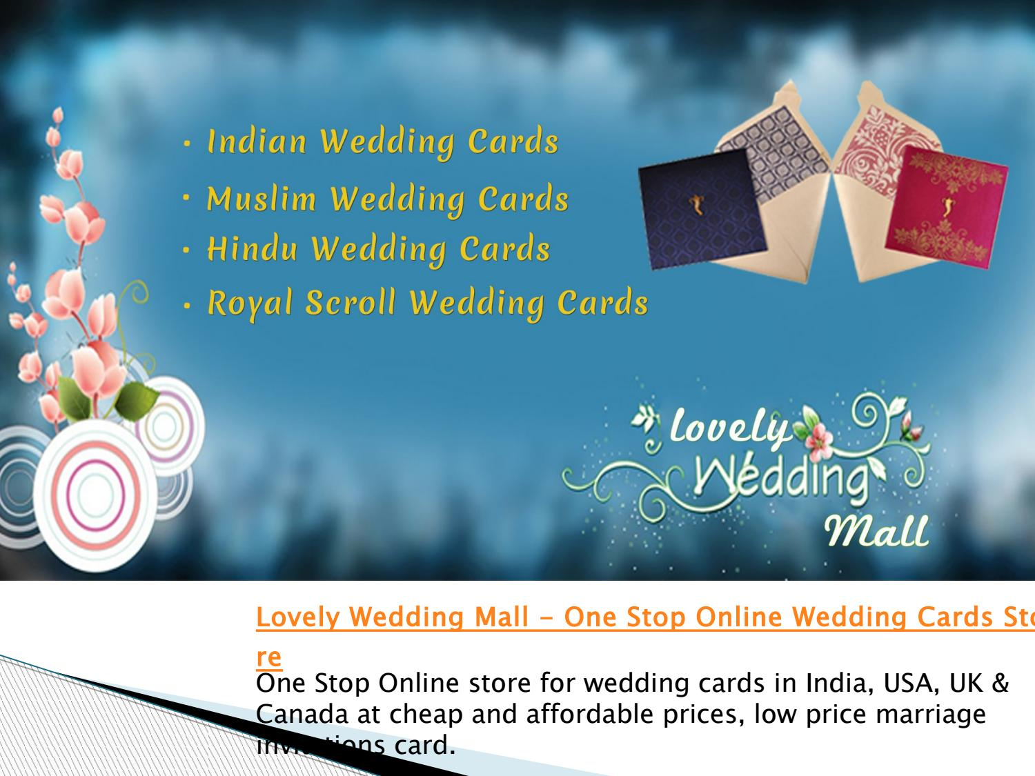 Lovely Wedding Mall One Stop Online Wedding Cards Store By Lovely