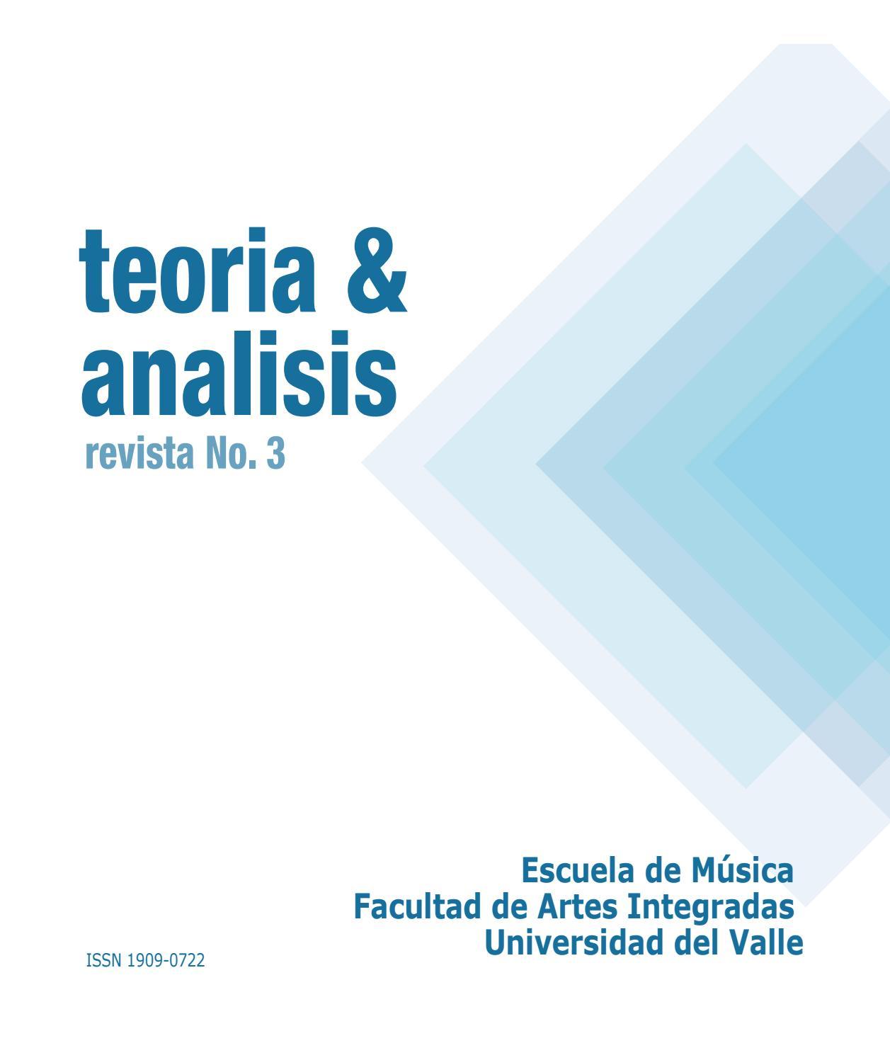 Teoría y Análisis Nº3 by Alberto Guzmán Naranjo - issuu