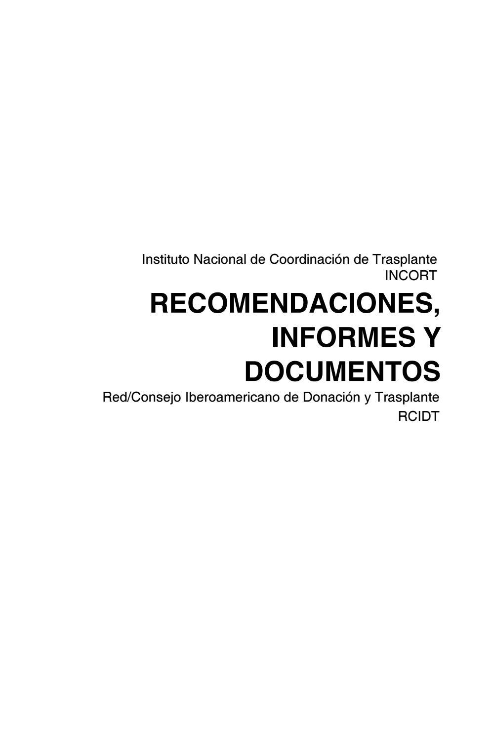 Recomendaciones, informes y documentos de la rcidt by 3bambu - issuu