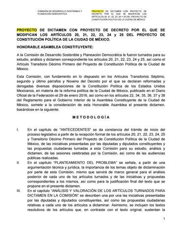 Proyecto de Dictamen desarrollo sostenible by CAPITALMX - issuu