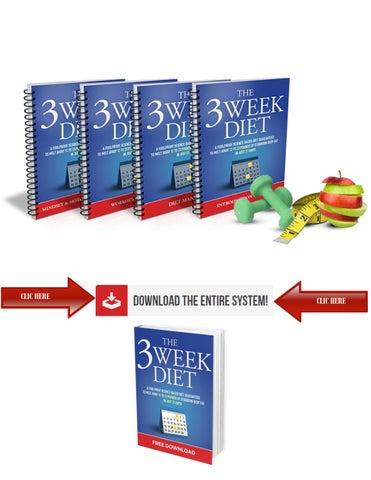 Page 4 of THE 3 WEEK DIET SYSTEM FREE DOWNLOAD PDF