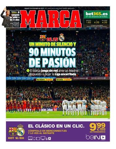 4543c03b3e0d2 Sábado 3 de diciembre de 2016 • 1€ • www.marca.com • Radio MARCA •