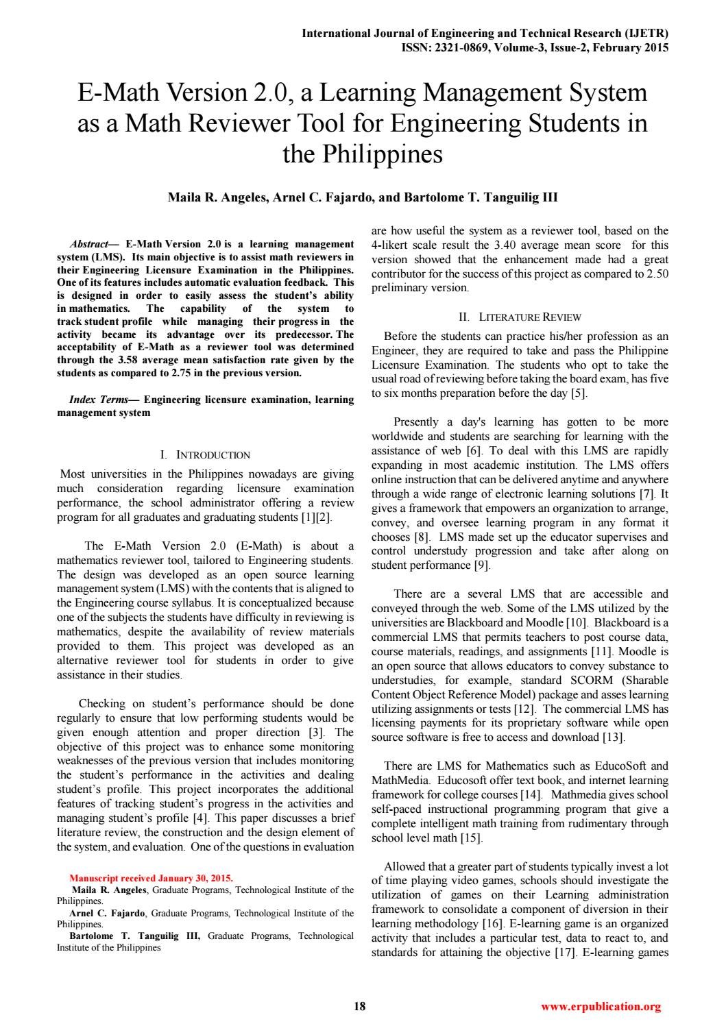 Ijetr031307 by International Journal of Engineering