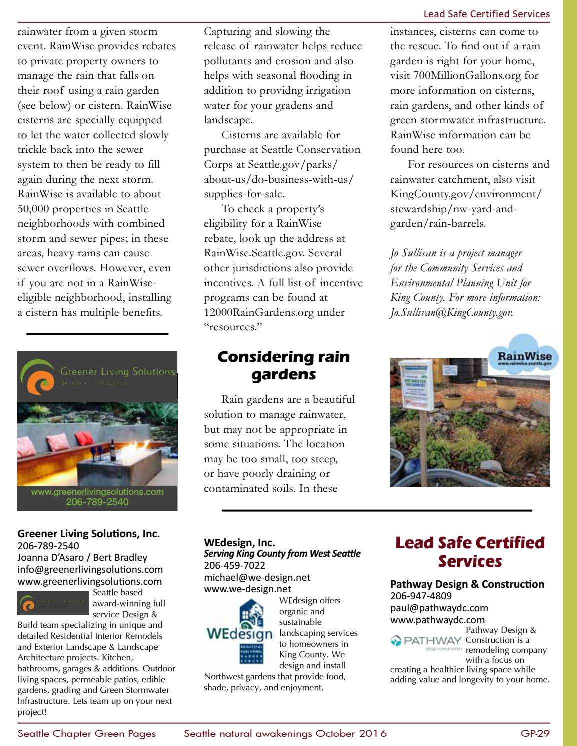 Green Pages 2016 by Seattle Natural Awakenings - issuu