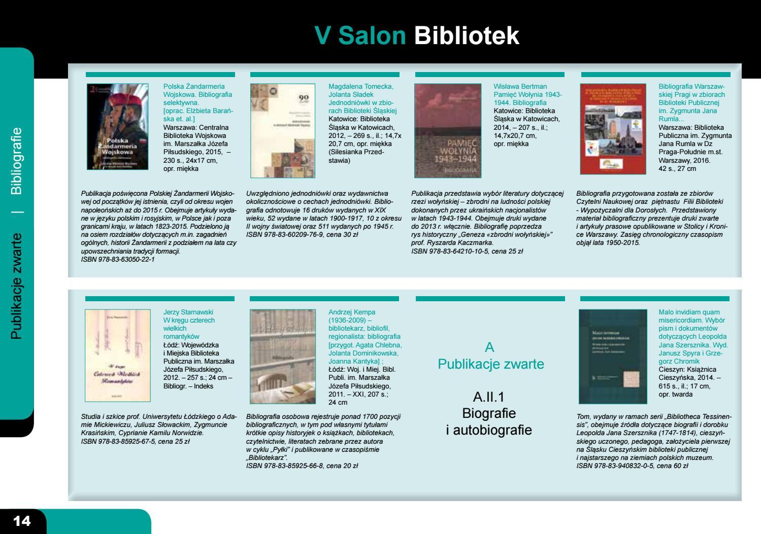 Katalog Publikacji Historycznych Bibliotek 2016 By Portal