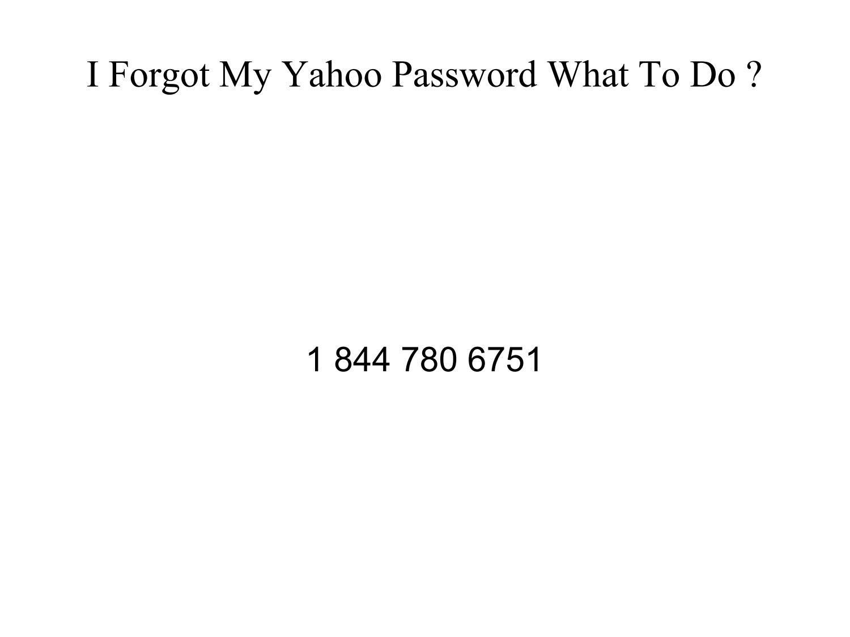 my yahoo password