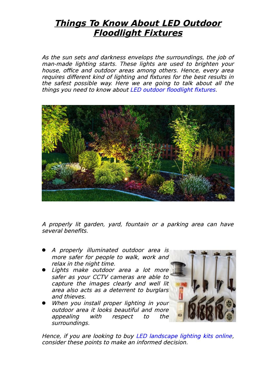 Things To Know About Led Outdoor Floodlight Fixtures By Markdives9987 Issuu