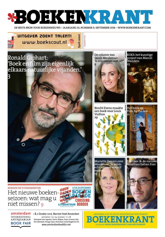 dfca7700171a27 Boekenkrant september 2016 by Redactie Boekenkrant - issuu