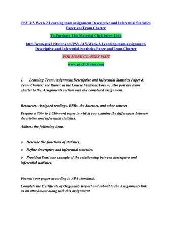 Resarch and Statistics Paper Psy 315 Paper