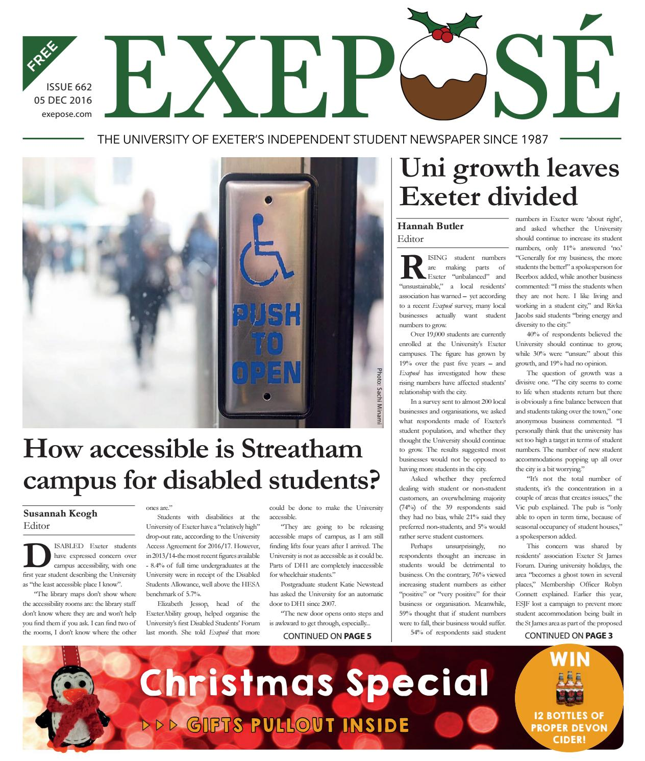 Exeposé Issue 662, 5 December 2016 by Exeposé - issuu
