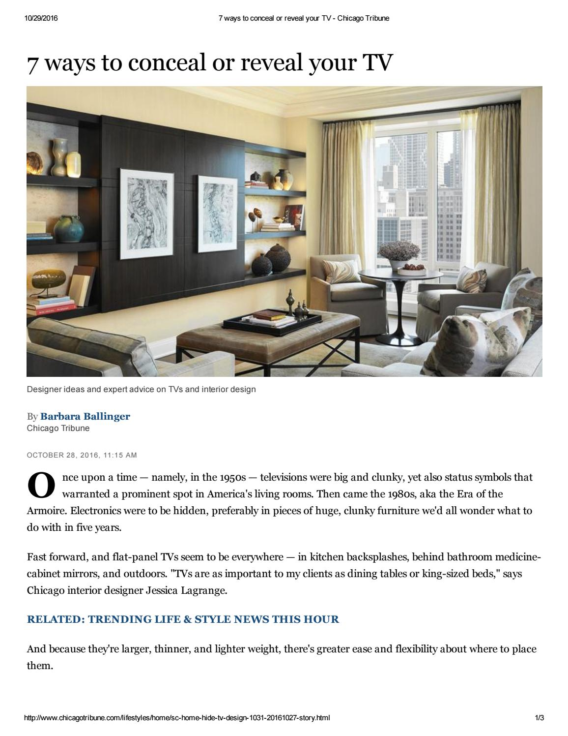 7 Ways to Conceal or Reveal Your TV - Chicago Tribune by Decorating Home Design Tv Html on spot color design, cvs design, interactive experience design, mets design, datatable design, page banner design, openoffice design, dvb design, pie graph design, theming design, ms word design, simple text design, interactive website design, datagrid design, civil 3d design, upload design, potoshop design, web design, company branding design, blockquote design,