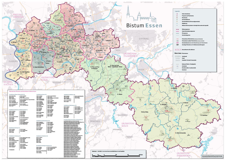 Karte Essen.Karte Bistum Essen By Bistum Essen Issuu