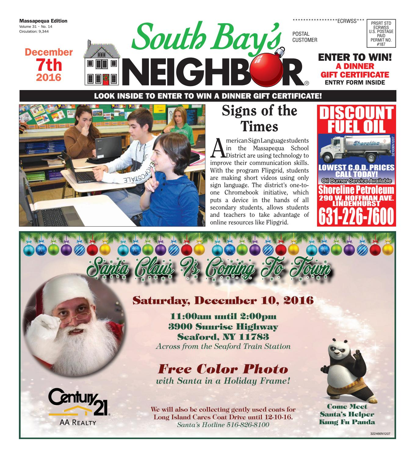 December 7 2016 Massapequa by South Bay s Neighbor Newspapers issuu