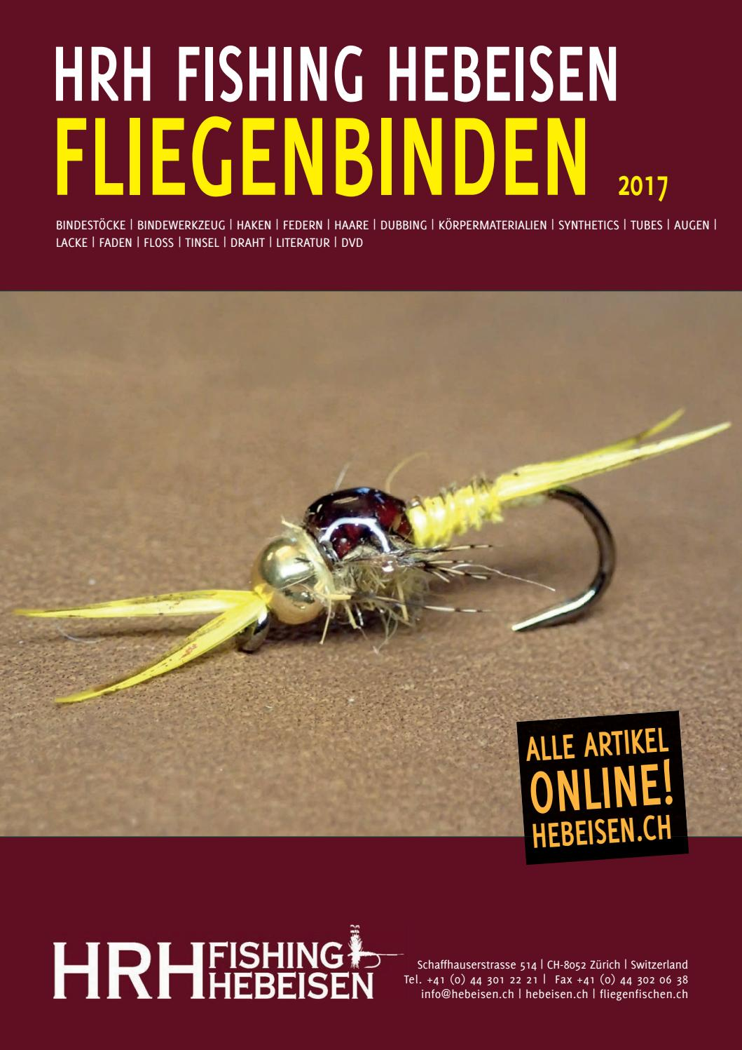 fly tying catalogue 2017 by hrh fishing hebeisen issuu. Black Bedroom Furniture Sets. Home Design Ideas