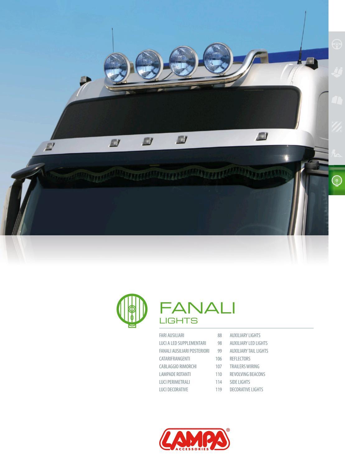 41504 FANALE ILLUMINAZIONE TARGA LED SMD 10//30V IN ABS PER CAMION CARRELLO LAMPA