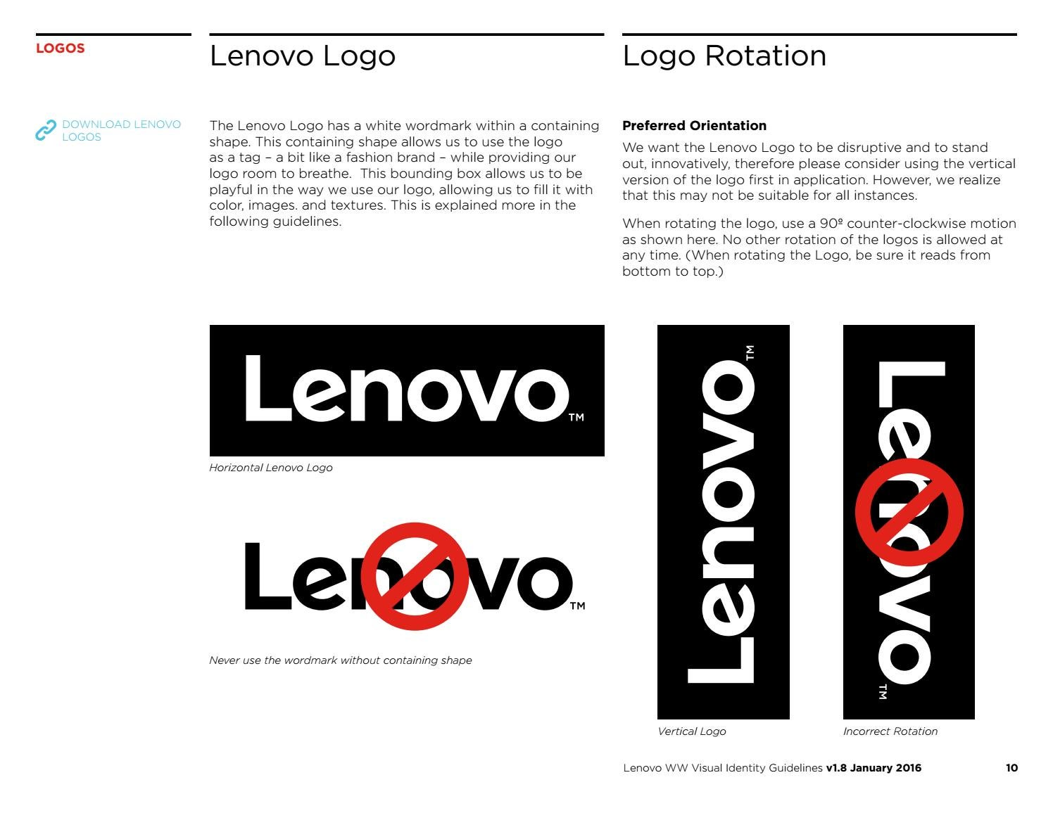 lenovo visual identity guidelines by lukasz kulakowski issuu lenovo visual identity guidelines by