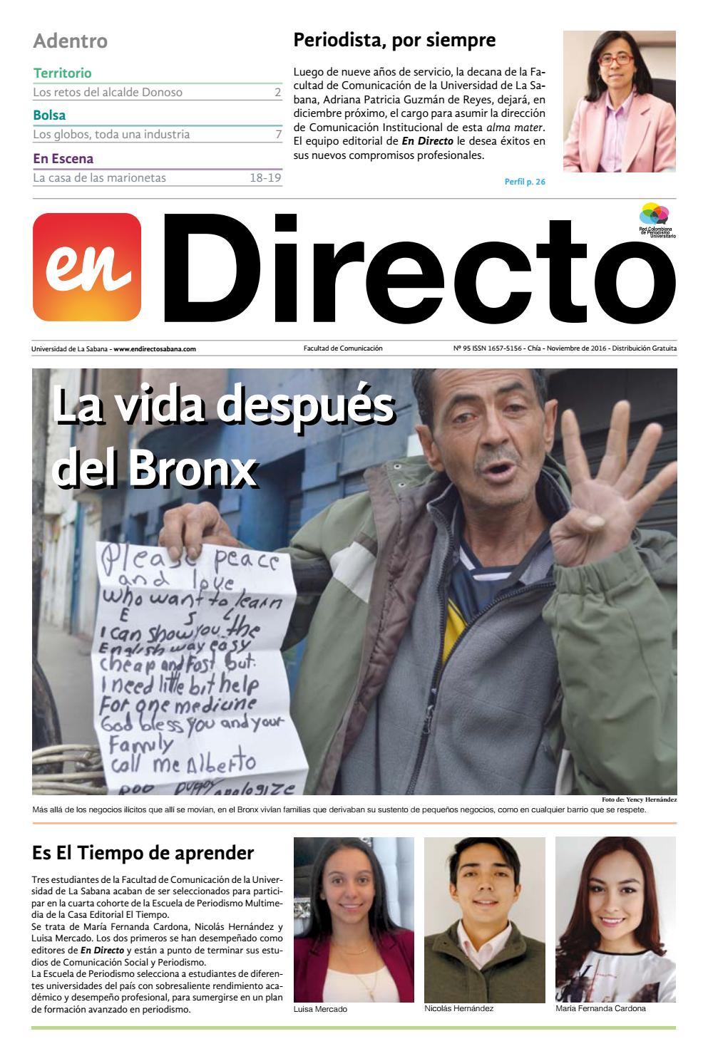 5f84e1dcdaf En Directo - Edición No. 95 by En Directo Sabana - issuu