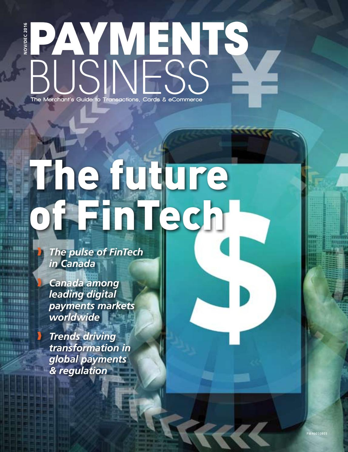 Payments Business Magazine Nov/Dec 2016 by Lloydmedia Inc - issuu