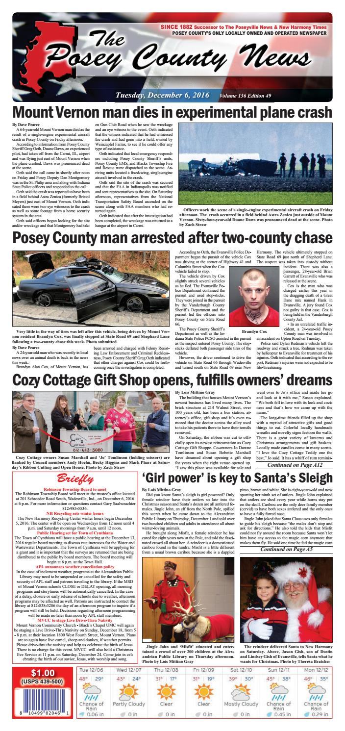 December 6 2016 the posey county news by the posey county news issuu