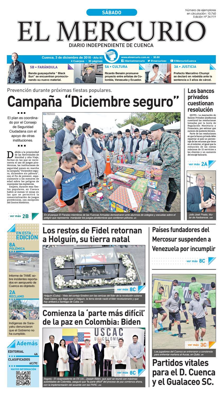 dadaa60a67e6 hemeroteca 03-12-2016 by Diario El Mercurio Cuenca - issuu