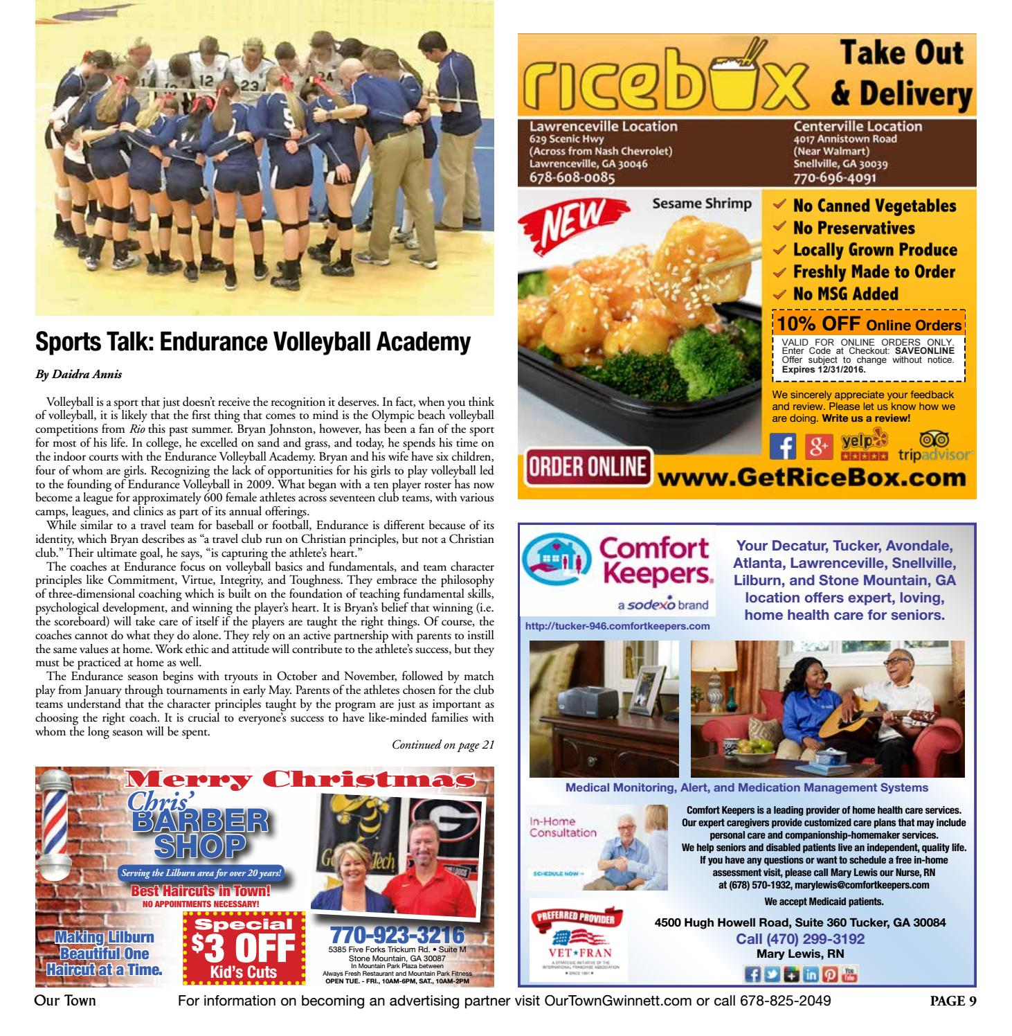 DECEMBER 2016: Our Town Gwinnett/NE DeKalb Monthly Magazine by Our ...