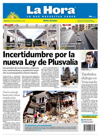 Quito 06 de diciembre de 2016 by Diario La Hora Ecuador - issuu 46ce0e7a8e6