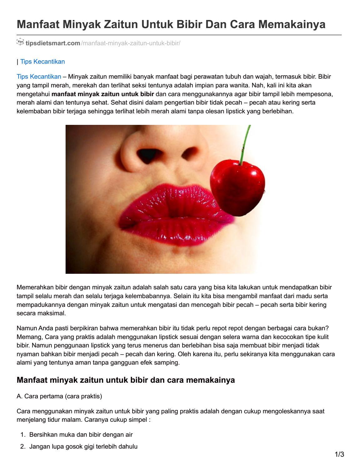 Tipsdietsmart Com Manfaat Minyak Zaitun Untuk Bibir Dan Cara Memakainya By Rudmustain Issuu