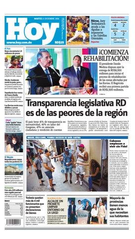 a40dfa751b Edición impresa hoy martes 06 de diciembre, 2016 by Periodico Hoy ...