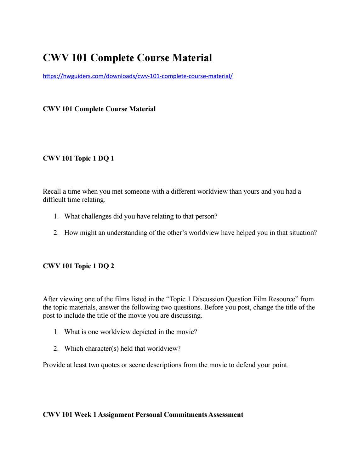 module 3 cwv 101 Back to 'cwv 101' form signatures  module 6 stewardship catdocx  module 6 stewardship c the fall cat mod 4docx.